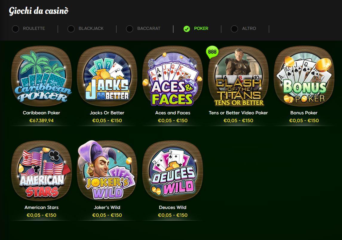 poker online 888 casino