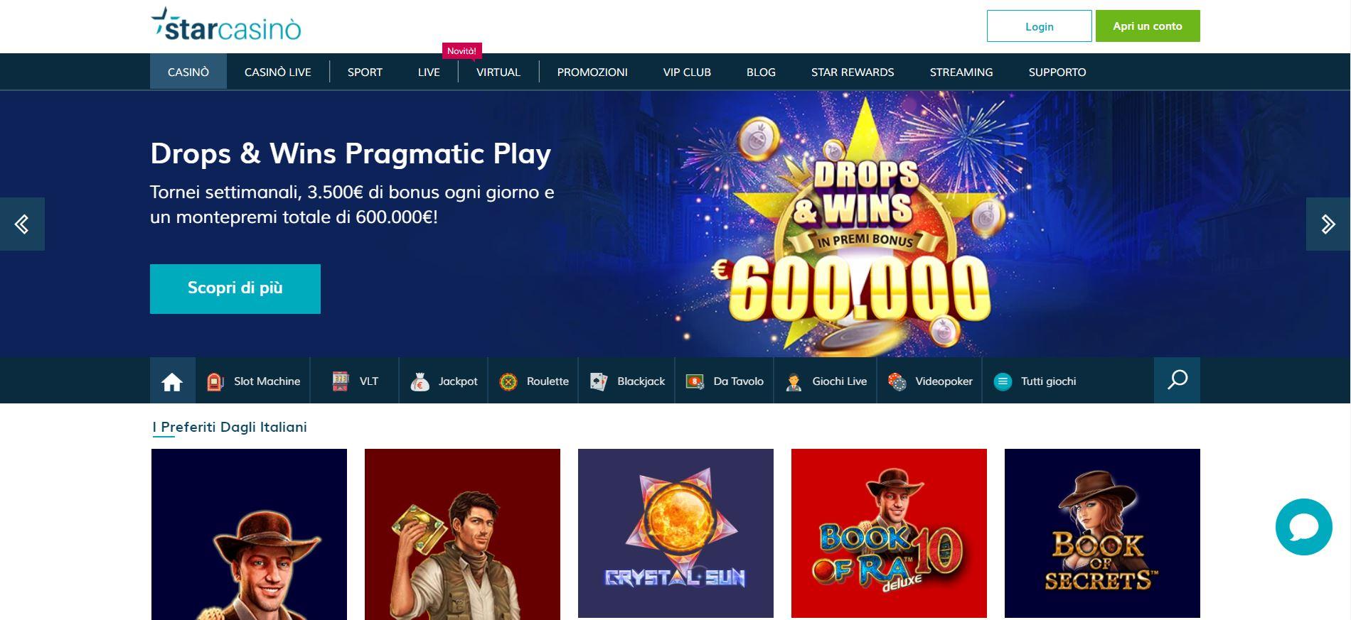Star Casino offre un mega bonus su Book of Ra Deluxe
