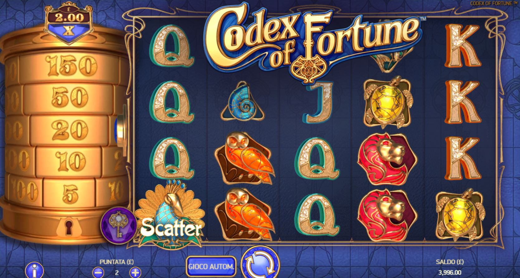 codex of fortune slot